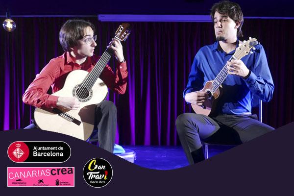 Dijous, 26 abril, 20:00h | LUIS ALEJANDRO GARCÍA & DAVID DUQUE – Timple canario y guitarra | Saló d'Art Miquel Llobet Casal Can Travi – BARCELONA