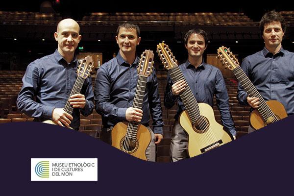 Sábado, 20 octubre, 19:00h | IN CRESCENDO, cuarteto de guitarras – A-cordes de guitarra | Museu Etnològic i Cultures del Món – BARCELONA