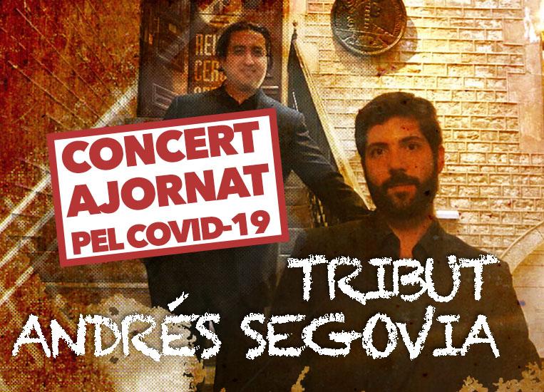 Dimarts, 27 d'octubre, 20.00h | TRIBUT ANDRÉS SEGOVIA | Pianoforte duo (Juan R. Arceo, guitarra & Carlos Picón, piano)