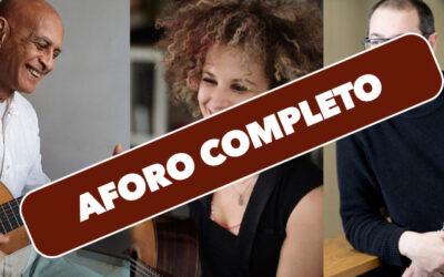 Viernes, 22 de octubre, 20:00h   Casa Elizalde   CLÁSICOS AFROCUBANOS   Obdara Trio: Walfrido Domínguez y Elena Zucchini (guitarras), y Bartolomé García (clarinete)