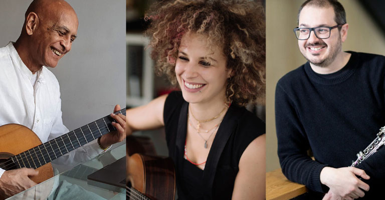 Viernes, 22 de octubre, 20:00h | Casa Elizalde | CLÁSICOS AFROCUBANOS | Obdara Trio: Walfrido Domínguez y Elena Zucchini (guitarras), y Bartolomé García (clarinete)