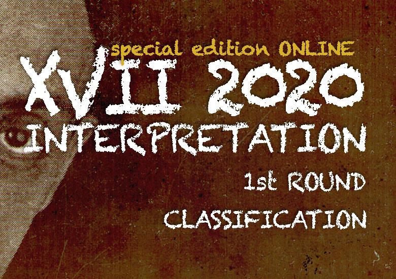 CERTAMEN LLOBET 2020 | Classification