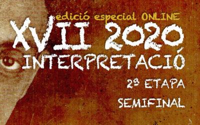 Del 18 al 26 d'octubre   CERTAMEN LLOBET 2020   Semifinal